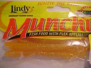 """Lindy Munchies Baits Lures 3-3/4"""" Worms Glo-w Pink Great 4 Bass NEW"""