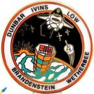 Vintage NASA Space Shuttle Columbia flight STS-32 Pin Brandenstein Ivins MINT___
