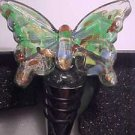 Ashley Nicole Handcrafted Art Glass Bar Wine Topper Bottle Stopper ButterFly NEW