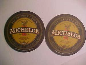 8 Michelob Lager Beer Bar Glass Can Coasters Mats LOOK!