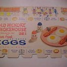 1950's Egg Carton Box Paper Crate Egg-cel Cardboard One Dozen Graphics LowShip*