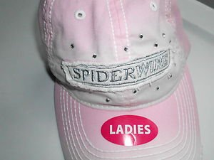Spider-Wire Bass Fishing Hat Cap Line Rods Reels Ladies Hat Pink 1SizeFits NEW