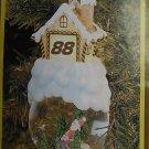Dale Jarrett NASCAR #88 Racing Lighted Christmas Tree Ornament Snow Globe NEW 04