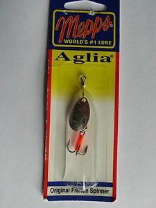Mepps Aglia 1/8oz Spinner Bait Lure #1 Silver Blade Trout Pan Fishing Lure NIP