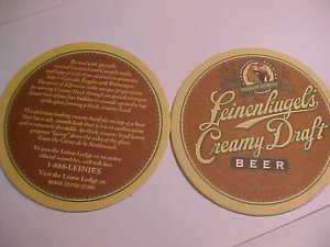 4 Leinenkugel's Draft Beer Bar Coasters Can Mat Ale New