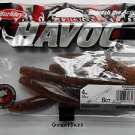 "Berkley Havoc Soft Baits Creature Lures 4"" SubWoofer Pumpkin-Seed HVMSW4-PS NEW"