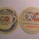 "Vintage Hacker-Pschorr Brau Beer Bier 4"" Coaster Bar Pub Mat LOOK NOS LwShp"