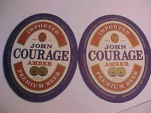 4 John Courage Premium Beer Bar Coasters Mats Amber Ale LOOK NOS