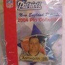 Tom Ashworth 68 New England Patriots 2004 Pin Lapel NFL Football NiP