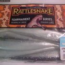 "Rattlesnake Lures 6"" Jerk Twitch Shads Baits Smoke Blue Bass Fishing Tackle New"