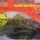 "Kangaroo Soft Plastic Artificial Scent Baits Lure 4"" Hook Tail Grub Watrmeln NOS"