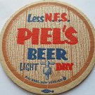 "Vintage Piel's Beer Pilsner Bier 3.5"" Coaster Mat Pub Bar Mat Piel Bros. NY NOS"