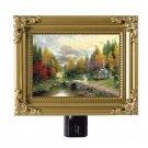 Thomas Kinkade Painting Painter THE VALLEY OF PEACE 5x4 Night Light AGR8 Gif NEW