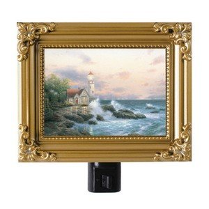 "Thomas Kinkade NightLight ""Beacon of Hope"" 5""x4"" Painting Of Light A GR8 GiftNEW"