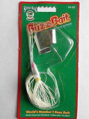 Strike King Buzz Bait 1/4oz Lure Bass Pike TopWater Fishing Lure Bait NEW LwShp