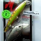 2 Matzuo Lures CrankBait Swim Hot Tiger Phantom Asai Minnows Blk Chrome Lure NIP