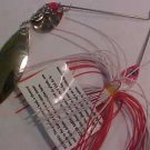 1/4oz Red White Spinner Bait Lure Bass Pike Lure LOOK New LowShp