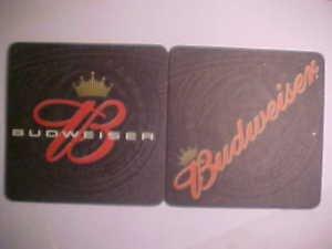 8 Budweiser Beer Ale Pilsner Bar Can Coasters Mats LOOK NEW