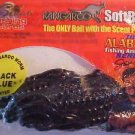"Kangaroo Soft 4"" Blue Black Plastic Scented Worms Baits Fishing Lures NIP"