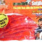 "Kangaroo Scented Soft Plastic Baits Lures 6"" Tomato Red CrawDad Bass Fishing NOS"