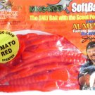 "Kangaroo Soft-Plastic 6"" Tomato Red CrawDads Bass Baits Lures Fishing Tackle NOS"