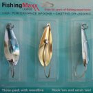 Fishing-Maxx WeedLess Minnows Lures Baits Gold Casting Jigging Spoons 3 NewIPK