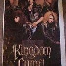 Vintage Kingdom Come Poster 80's Hair Metal Rock Band Lenny Wolf Original LwShp