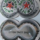 4 Heineken Light Beer Bier Bar Coasters Can Mats Ale NEW