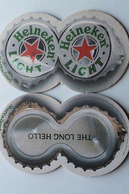 4 Heineken Light Beer Bier Bar Coasters Can Mats Ale NEW