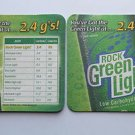 4 Rolling Rock Green Light Beer Bier Bar Coasters Can Mats Ale NEW