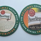 4 Pilsner Urquell Beer Bier Bar Coasters Can Mats Ale NEW
