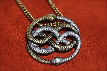 Neverending Story Auryn Pendant - Silver and Gold (Atreyu's Pendant)