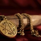 Supernatural Devil's Trap Pendant Necklace Antique Gold - Sam & Dean Winchester