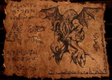 Ancient Cthulhu Scroll - Parchment of Lovecraftian Horror