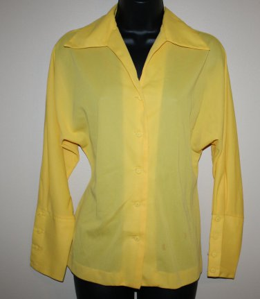 Vintage Yellow Long Sleeve Blouse Daisy's Originals 9/11