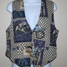 Vintage Blue Horse Vest M At Last Sportswear Co.
