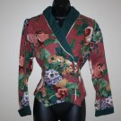 Vintage Floral Fitted Tailored Cropped Jacket 10  Tobael Western