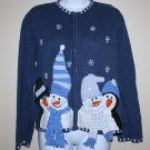 Vintage Blue UGLY Christmas Sweater  Heirloom Collectables 16