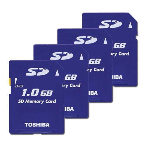 Toshiba 1GB SD Memory Card (Four Cards)