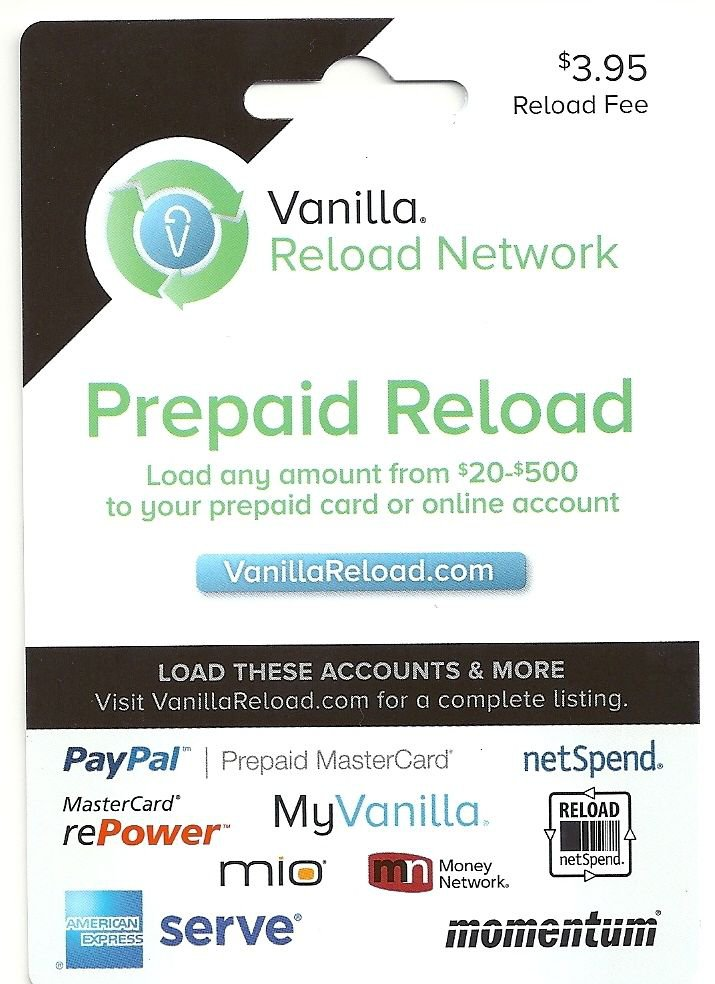 how to reload a prepaid paypal card | Cardonline co