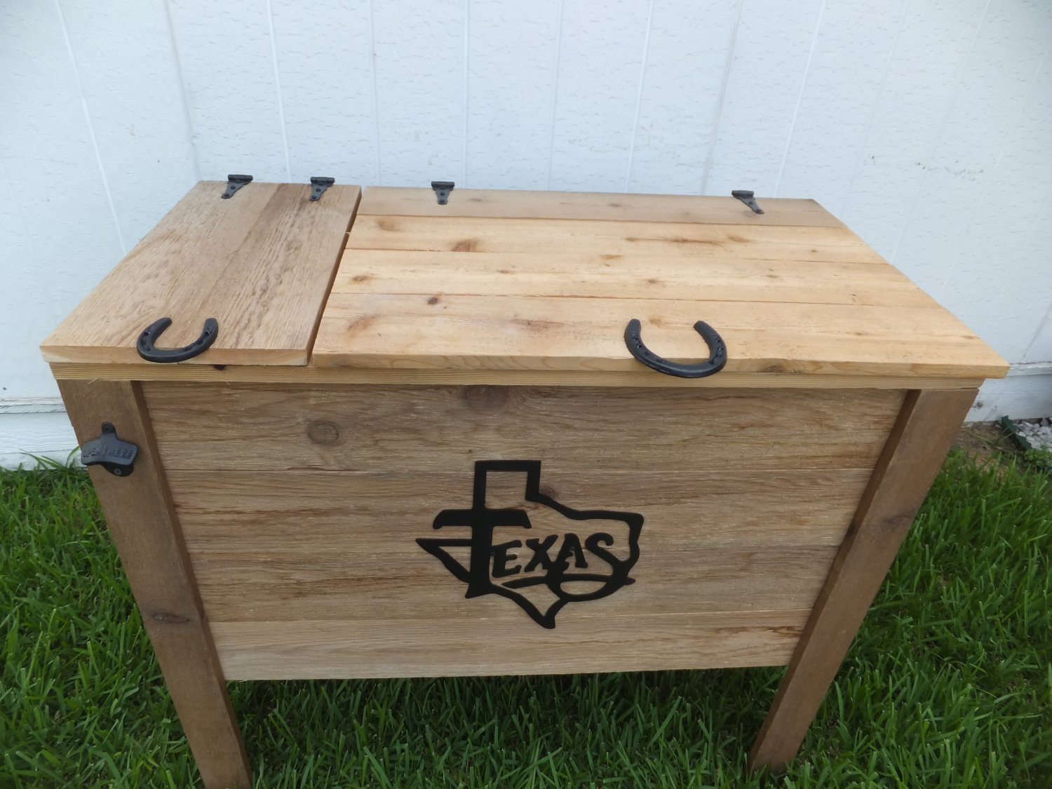 Rustic Wooden Ice Chest Cooler