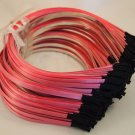 Wholesale Lot 10 Metal Headbands with Pink Ribbon Glued On 5mm