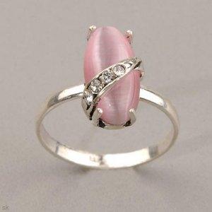 Pink Cat's Eye Ring