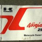 1986-1988 KAWASAKI NINJA 250R EX250 Owners Manual
