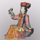 Nice Chinese Style Ceramic Lady Playing with Bird