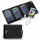 Portable 5W waterproof USB Solar panel powered Charger hang in backpack For iphone all Mobile Phone