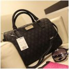 Women Messenger Bag MANGO Plaid Bucket Women Leather Handbags