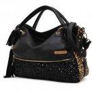 Fashion bag casual leopard print paillette bag women's handbag