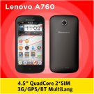 smartphone Lenovo A760 Quad Core 1.2GHz 4.5 inch IPS Screen 1GB RAM 4GB Dual SIM 5.0MP