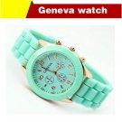 fashion casual Geneva Silicone quartz watch women Jelly Sport wristwatches Woman